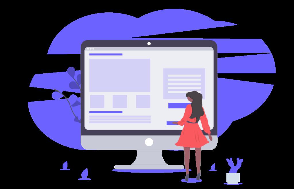 page design illustration